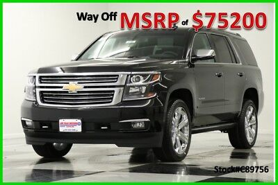 2018 Chevrolet Tahoe Premier 4WD  7 Passenger Black SUV For Sale New GPS Navigation Heated Cooled Leather 22 In Chrome Rims 17 2017 18 Camera