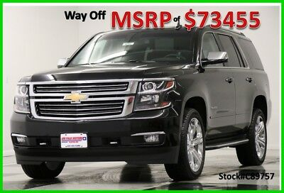 2018 Chevrolet Tahoe Premier Sport Utility 4-Door New Navigation Heated Cooled Leather Camera Captains Chrome Rims 17 2017 18 Bose