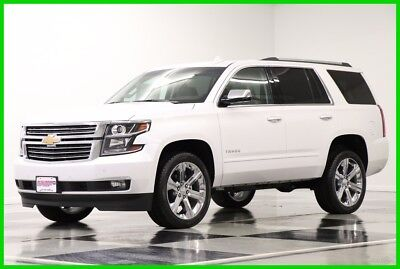2018 Chevrolet Tahoe MSRP$73860 4X4  Premier DVD Sunroof White Diamond New Navigation Player Heated Cooled Seats 7 Seats 17 2017 18 22 In Rims Camera