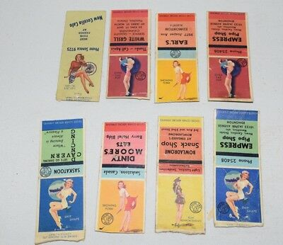 antique PIN UP RISQUE GIRLY suggestive matchbook covers lot 1
