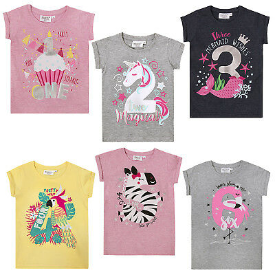 Girls Novelty Birthday Age I Am 1 2 3 4 5 6 Number T Shirt Short
