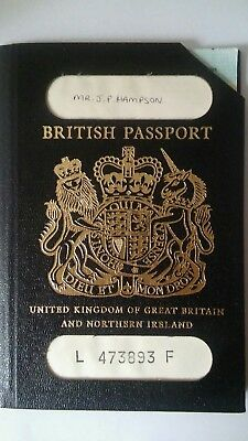 Vintage British Used Passport (Black Style) issued 1987 cancelled Custom stamps