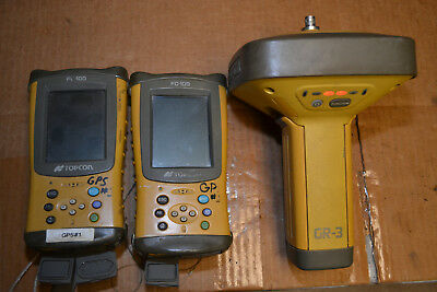 Topcon GR-3 Satellite Rover Base and 2 FC-100 Data Collector