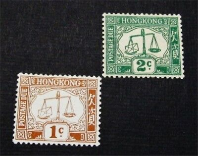 nystamps British Hong Kong Stamp # J1 J2 Mint OG H $43