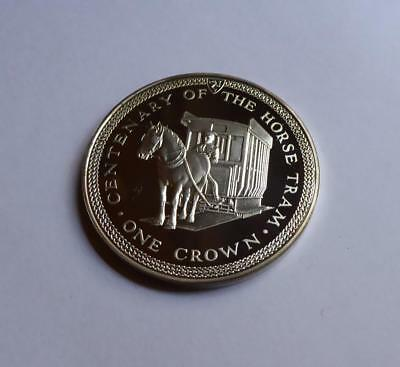 1976 Isle Of Man Silver Proof Crown Centenary Of The Horse Tram