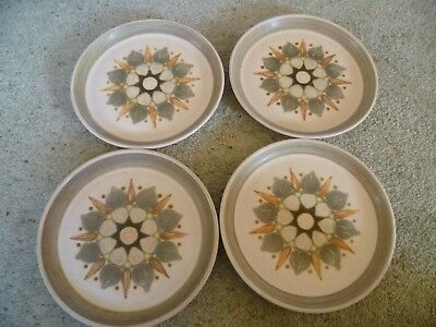 DENBY LANGLEY SHERWOOD SET of  BREAKFAST PLATES - 8 AND HALF inches