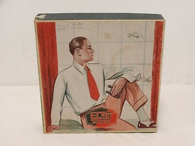 Vtg 1930'S Advertising MEN'S SHIRT BOX Elby Shirts Gent Posing Window Airplanes