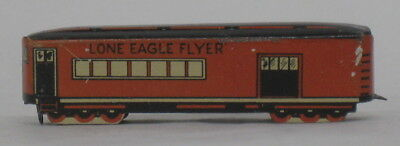"""Early Cracker Jack Tin Litho/lithography """"lone Eagle Flyer"""" Train Car-Toy Prize"""