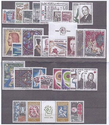 Timbres De France Annee Complete 1964 Neuf Luxe **
