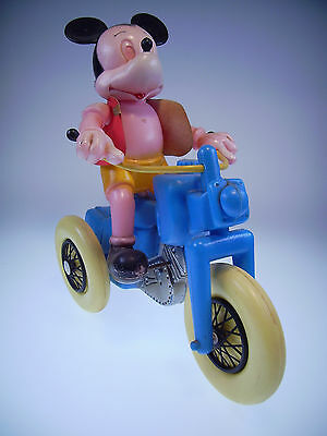 """GSCOM """"MICKEY MOUSE TRICYCLE"""" NO NAME, Uhrwerk OK, 30cm,Plastik, guter Zustand,"""