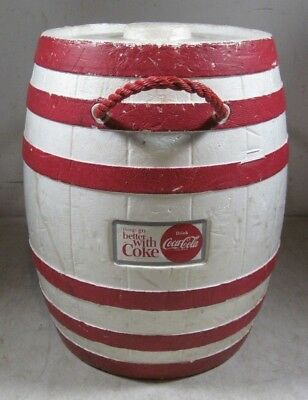 Vintage Styrofoam Coca-Cola Things Go Better With Coke Barrel Cooler Large