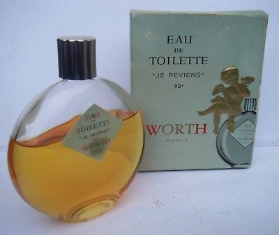 Vintage Worth Of Paris Je Riviens Eau De Toilette Lalique Bottle  125ml