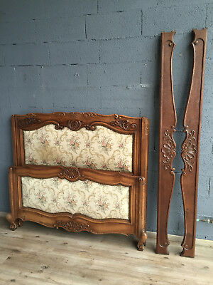 41718 ANTIQUE FRENCH Louis XV Upholstered BED