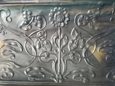 SALE!! Antique Victorian Ceiling Tin Tile Sun Flower Leaves Shabby Chic Cottage