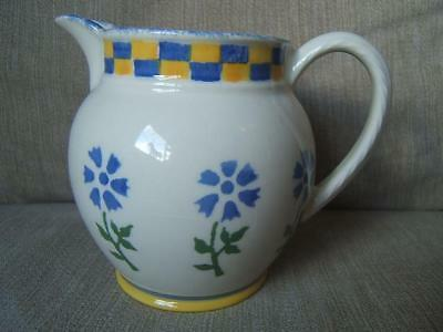 Laura Ashley ANNABEL spongeware 0.75 PINT milk JUG floral 1993