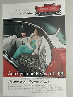 1956 Plymouth ad, Plymouth Belvedere, color photo