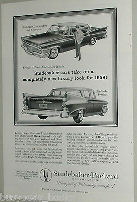 1958 Studebaker advertisement, Studebaker President plus Commander or Champion