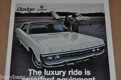 1970 DODGE MONACO advertisement, Dodge Monaco ad, with small airplane