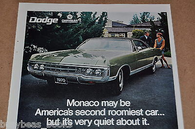 1970 DODGE MONACO advertisement, Dodge Monaco ad, 3 photos