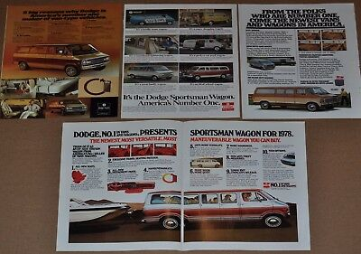 1976-79 Dodge Sportsman van advertisements x4, DODGE VANS ads