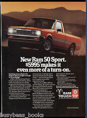 1985 DODGE RAM 50 pickup advertisement, Dodge Ram 50 Sport pickup truck