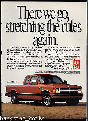 1990 DODGE DAKOTA Pickup advertisement, Dodge Dakota Club Cab pickup