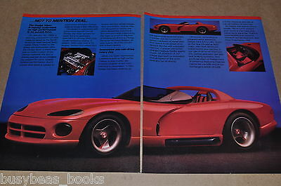 1989 Dodge 4-page advertisement, DODGE VIPER, huge photos