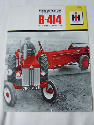 @Vintage McCormick International B-414 Diesel Tractor Brochure@