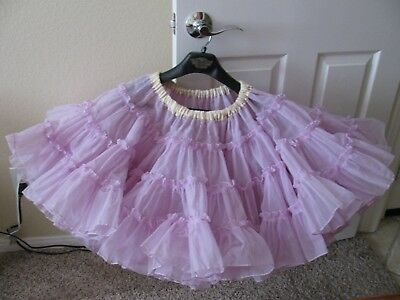 LAVENDER Square Dance Petticoat Crinoline Rockabilly Swing Circle Skirt Pin Up