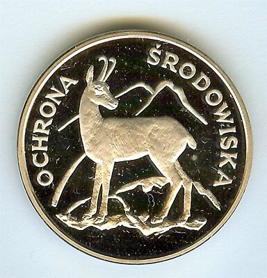 Poland 1979 Silver 100 Zlotych  Y#105, Chamois   Perfect Proof Dcam