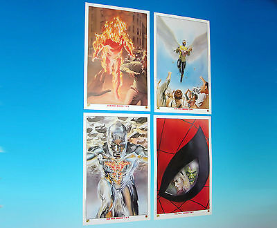 Alex Ross Marvels Limited Edition Complete Lithograph Set Of 4 Marvel Comics