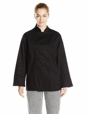 Dickies Chef Women's Annabella Executive Coat.  Black.  Small