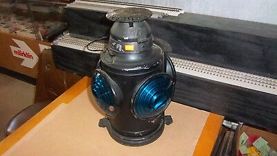 """Old  Illnois Central Caboose Handlan  St. Louis Lantern Light About 16"""" Tall"""
