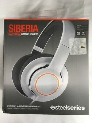 SteelSeries Siberia RAW Prism White Headband Headsets for Multi-Platform