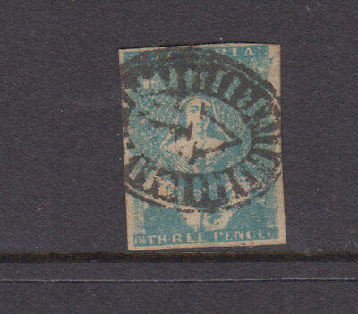 Victoria 1854 3d Greenish Blue HALFLENGTH-C & F Print-SG31a Cat  £48++ GU
