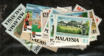 Malaysia Scott 320-25, 337-49 Mint NH (1986 Commemorative Year Set) - CV $64.90