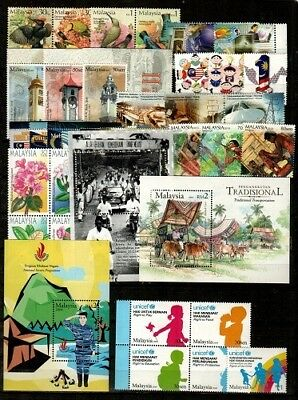 Malaysia Mint NH set and S/S lot [TB1202] - Catalog Value $35.15