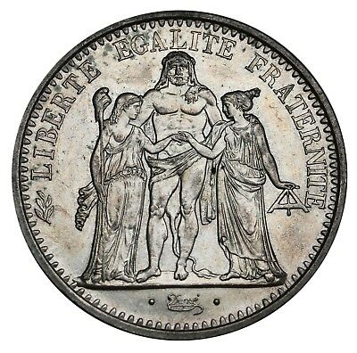 1970 France 10 Francs KM# 932 Hercules Silver Coin Crown Size