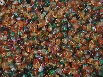 Crystal Glass Chips 100g 2 Tone Mix Jewellery Spacer DIY Necklace FREE POSTAGE