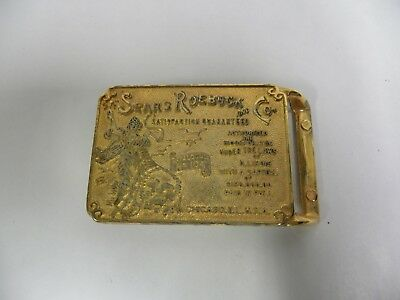 Vintage Sears Roebuck and Co. Gold Tone Belt Buckle (A5)