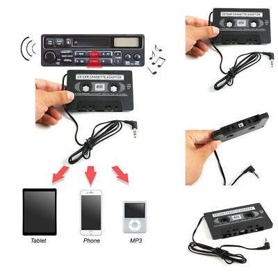 3.5mm AUX Car Audio Cassette Tape Adapter Transmitters for MP3 IPod CD iPhone US