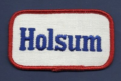 VINTAGE! Rectangle HOLSUM Bread Uniform Patch - New Old Stock