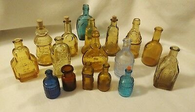 Vintage Wheaton Mini Glass Bottle Lot Of 12 Plus More