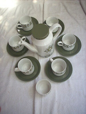 Midwinter Lynton Tea Or Coffee Set Pot Bowl Cups & Saucers X 6 By John Russel