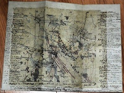 1807 Napoleon Battle of Eylan A Prussian Army Map