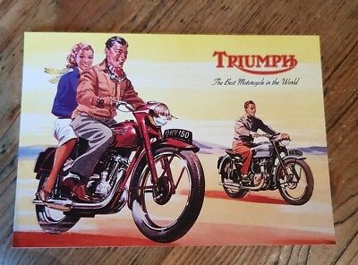 Triumph   The  Best Motorcycle In The World    Postcard