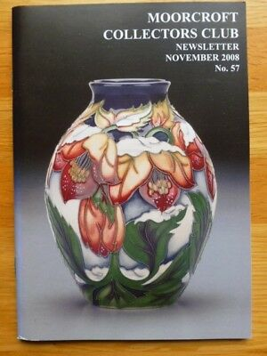 Moorcroft Collectors Club Newsletter No. 57 November 2008 VGC