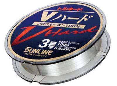 Monofilament V Hard Fluorocarbon 100% Sunline 0,57 Mm Fishing Invisible 50 Mt