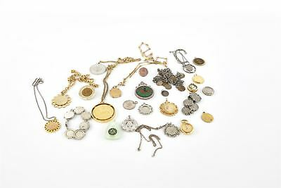 Lot of 25 x Vintage COIN THEMED Mixed Costume Jewellery Inc.Necklaces Etc