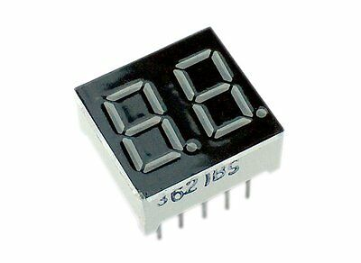 "0.36"" 2 Digit 7-Segment LED Display common anode - Red- Pack of 2"